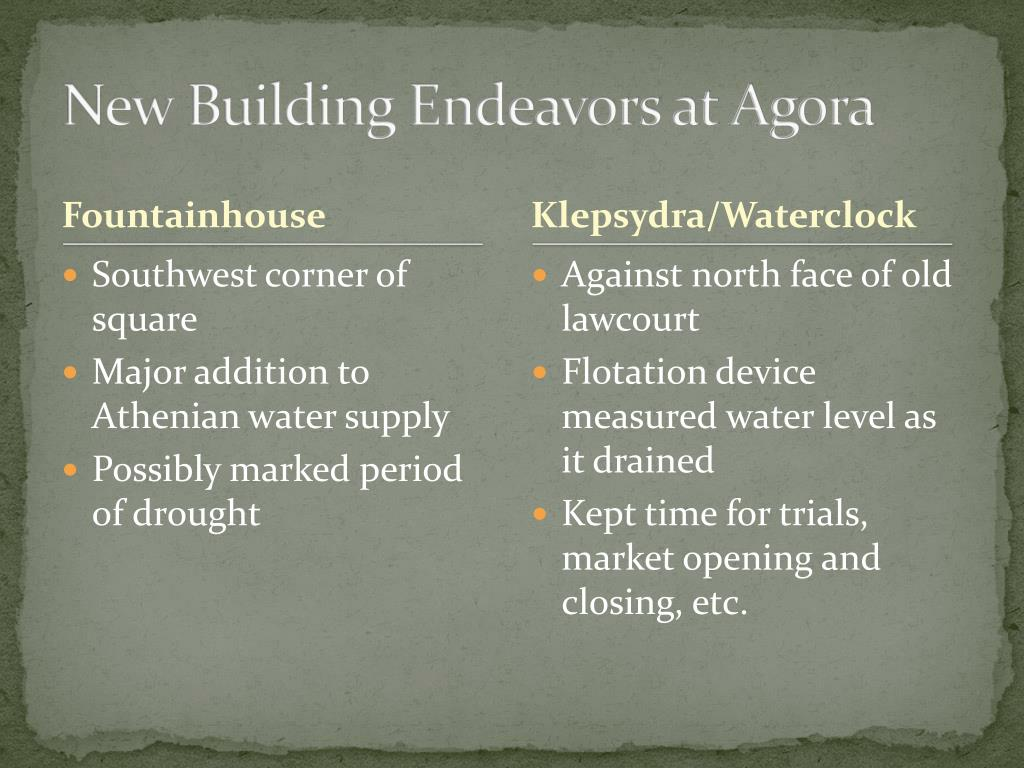 New Building Endeavors at Agora