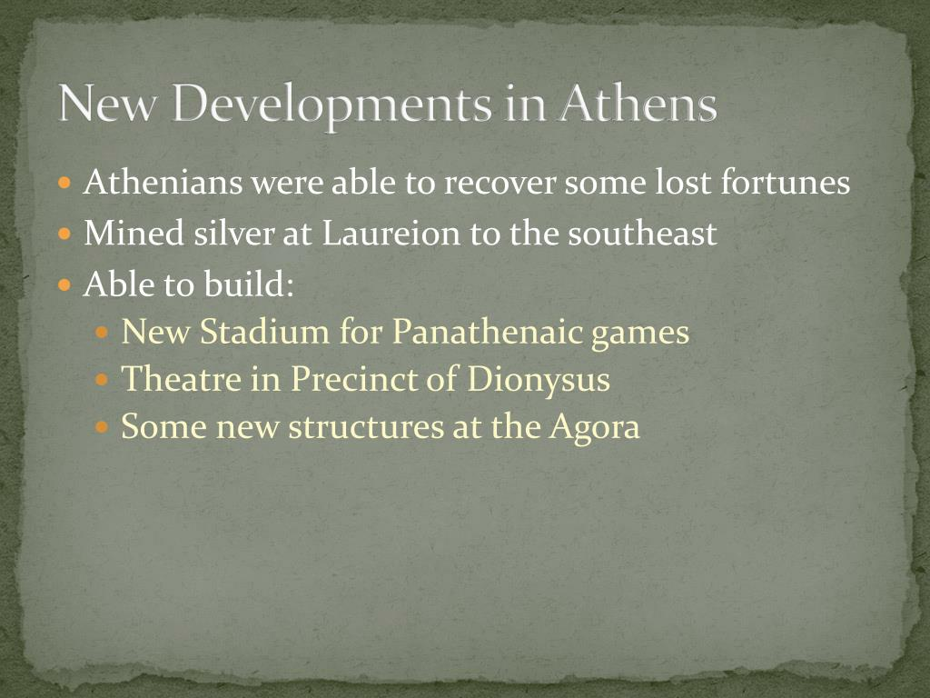 New Developments in Athens