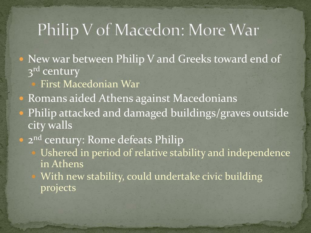Philip V of Macedon: More War