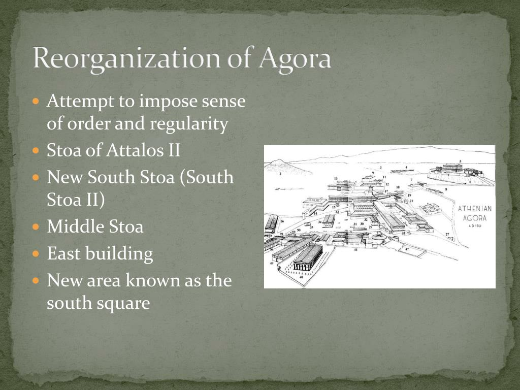 Reorganization of Agora