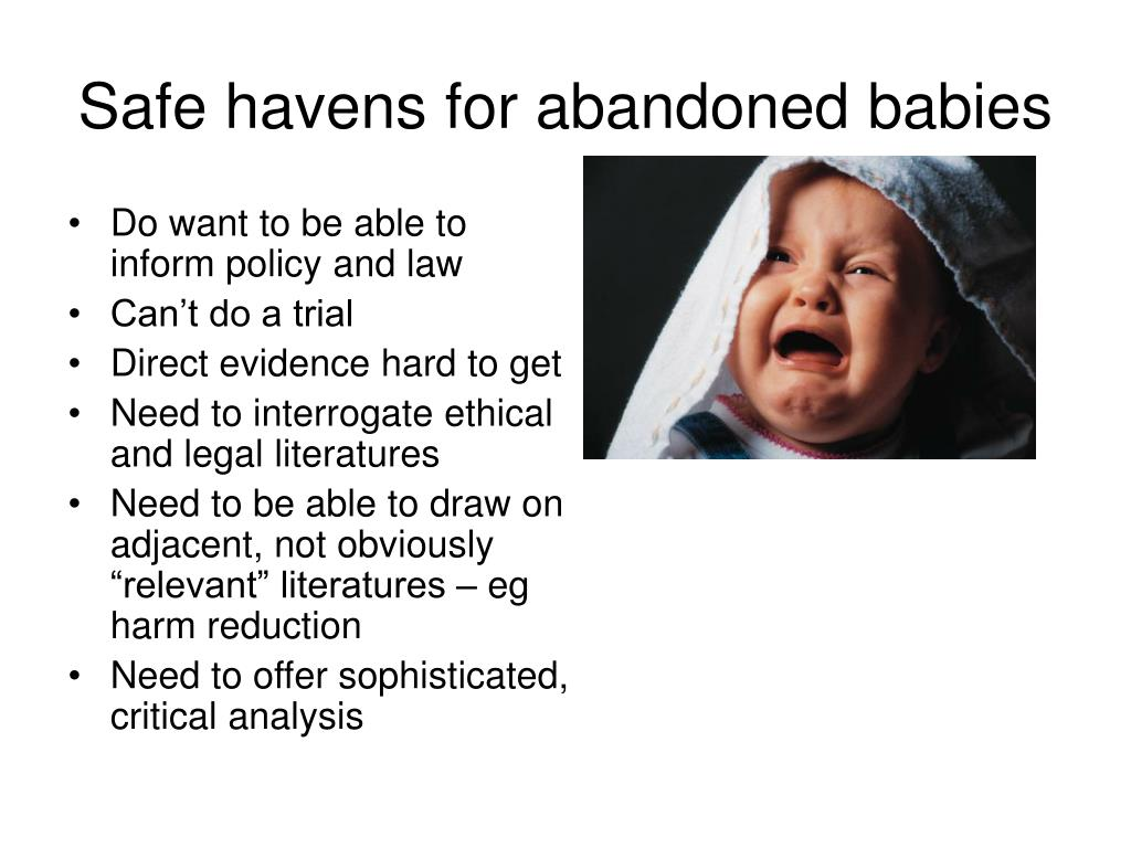 Safe havens for abandoned babies
