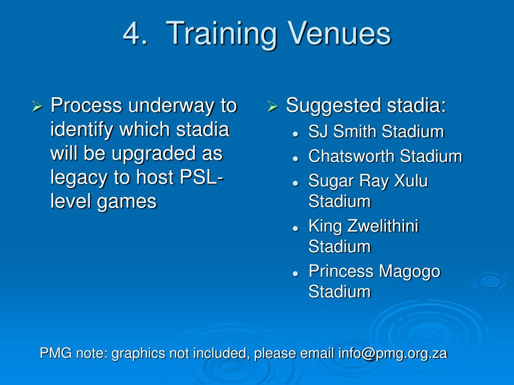 Process underway to identify which stadia will be upgraded as legacy to host PSL-level games