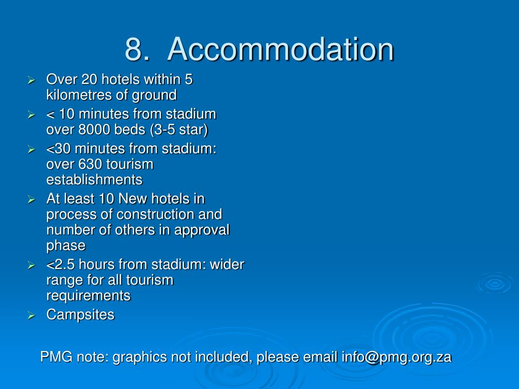 Over 20 hotels within 5 kilometres of ground