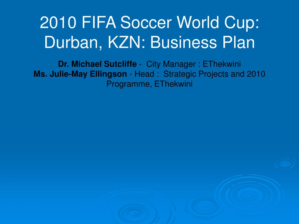 2010 FIFA Soccer World Cup: