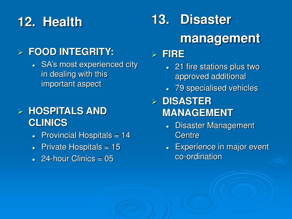 12.  Health