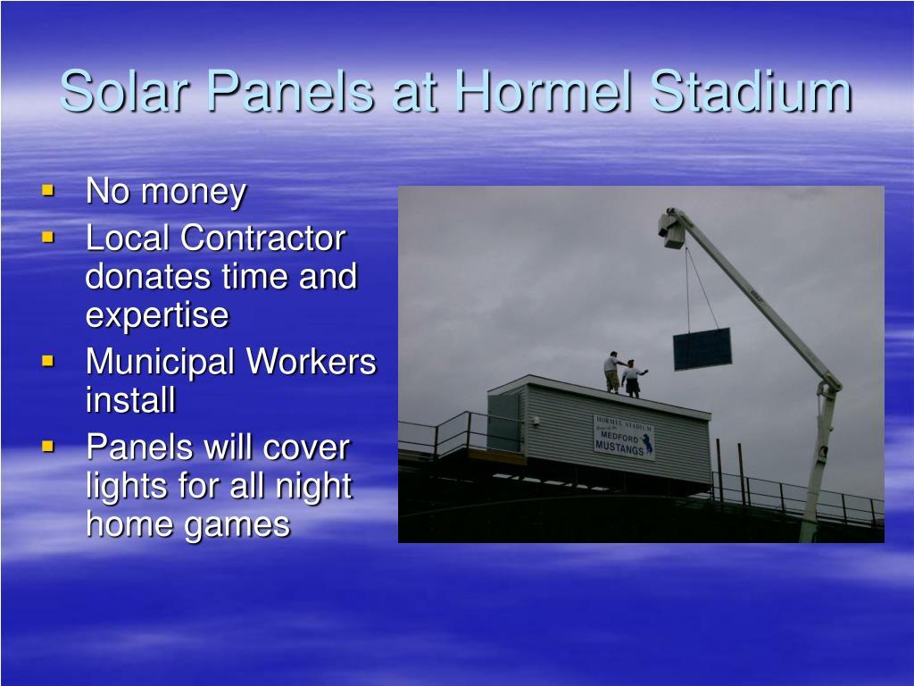 Solar Panels at Hormel Stadium