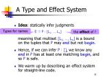 a type and effect system