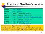 abadi and needham s version