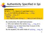 authenticity specified in spi