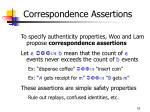 correspondence assertions16