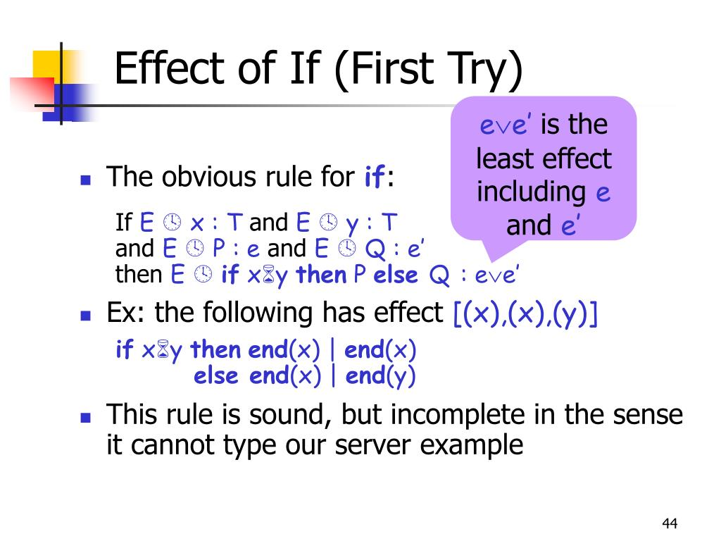 Effect of If (First Try)