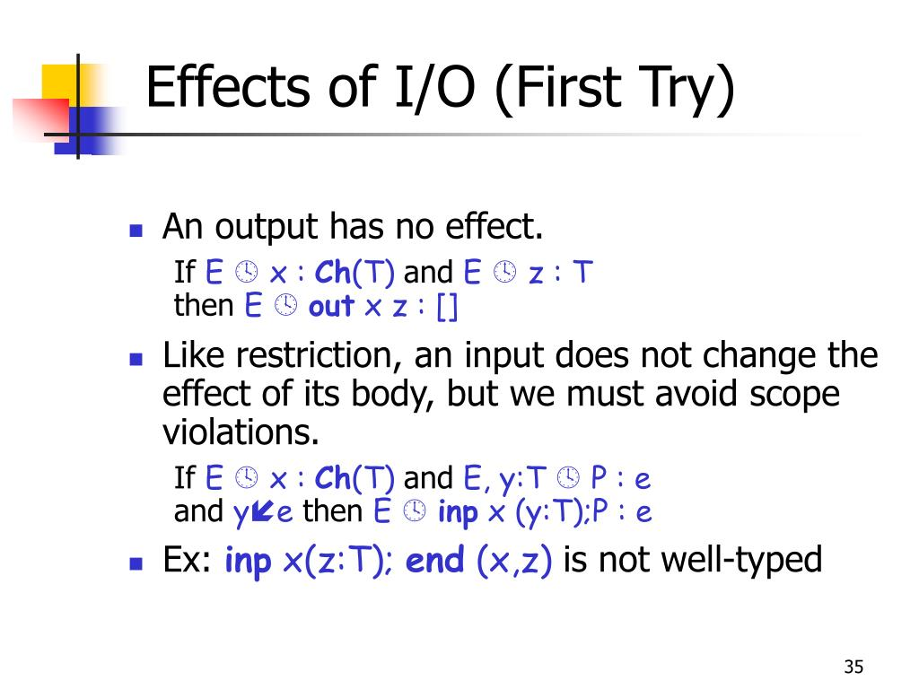 Effects of I/O (First Try)