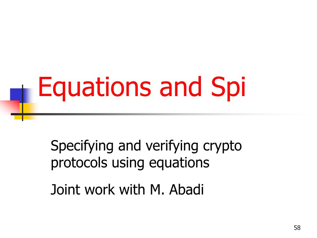 Equations and Spi