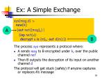 ex a simple exchange