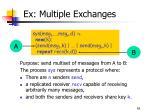 ex multiple exchanges