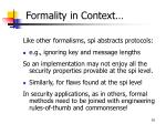 formality in context