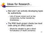 ideas for research
