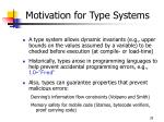 motivation for type systems