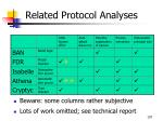 related protocol analyses