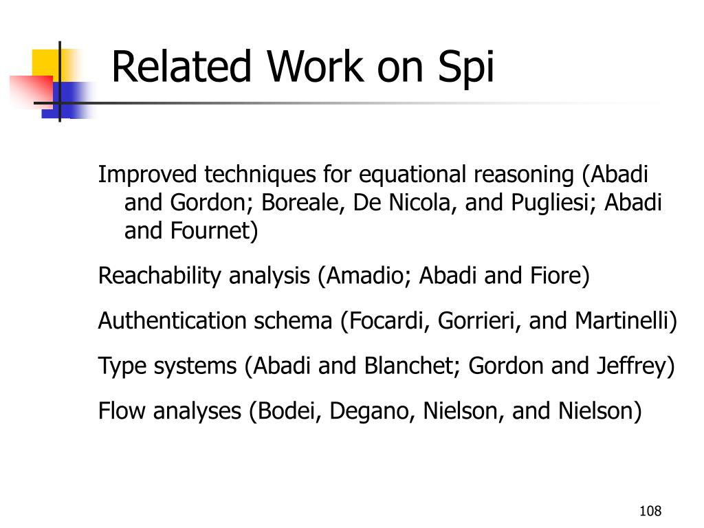 Related Work on Spi