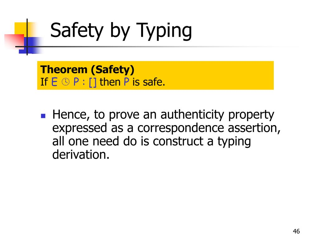 Safety by Typing