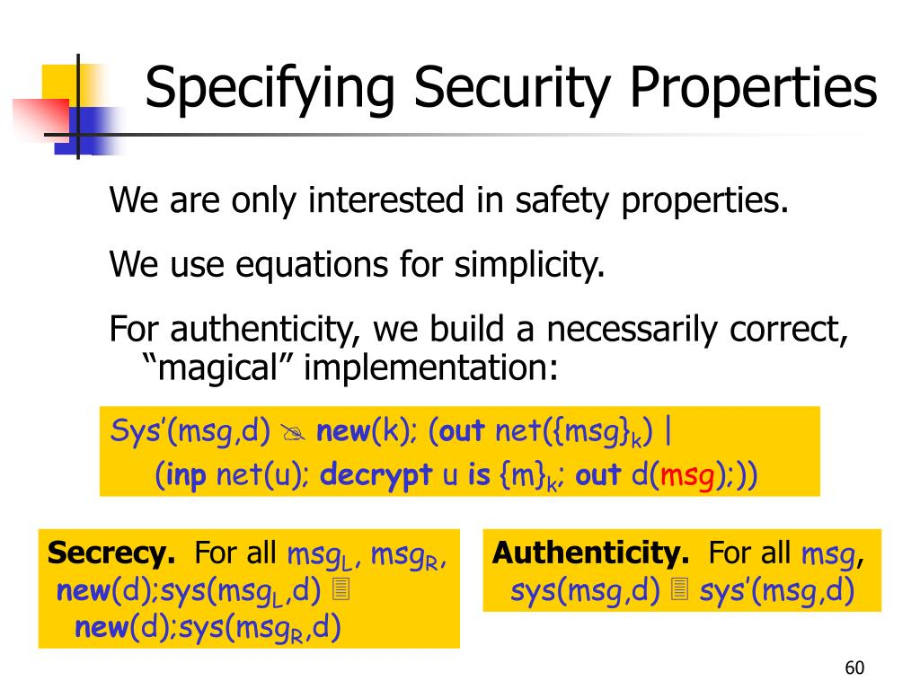 Specifying Security Properties