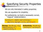 specifying security properties