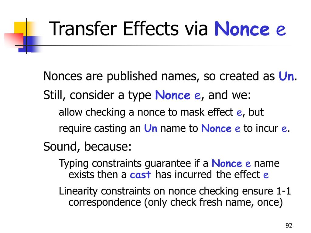 Transfer Effects via