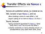 transfer effects via nonce e