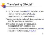 transferring effects