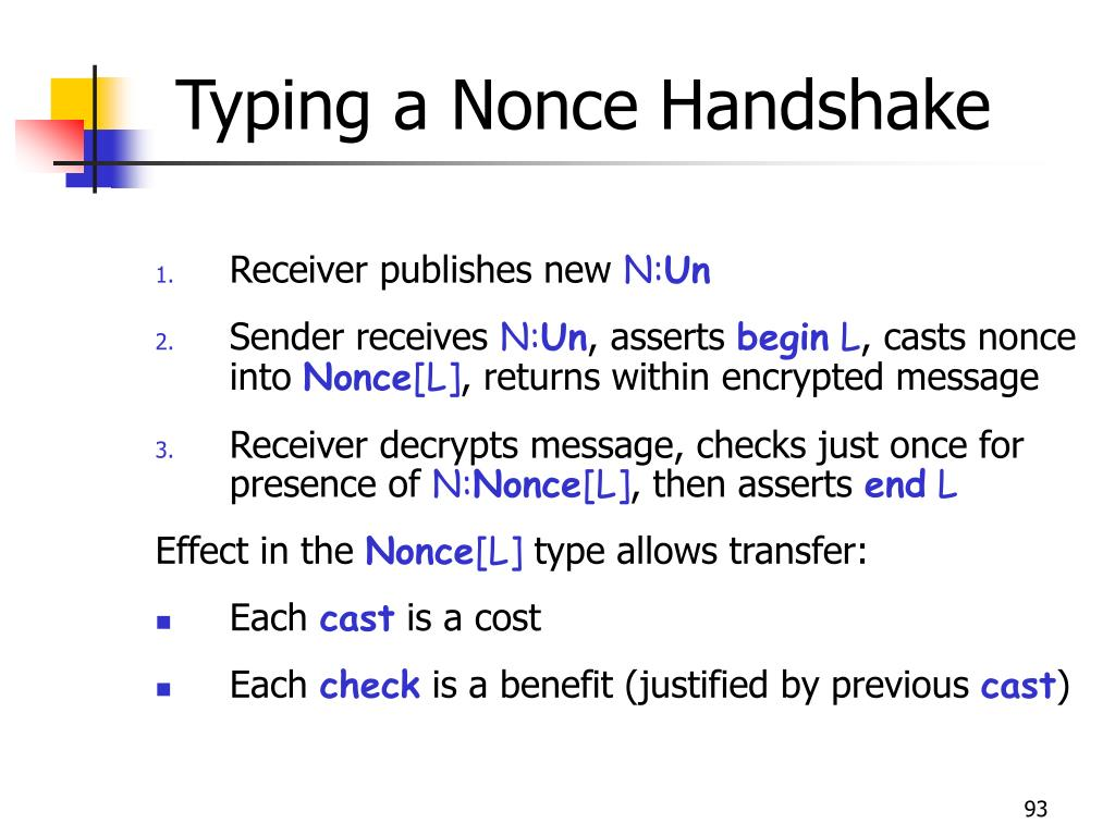 Typing a Nonce Handshake