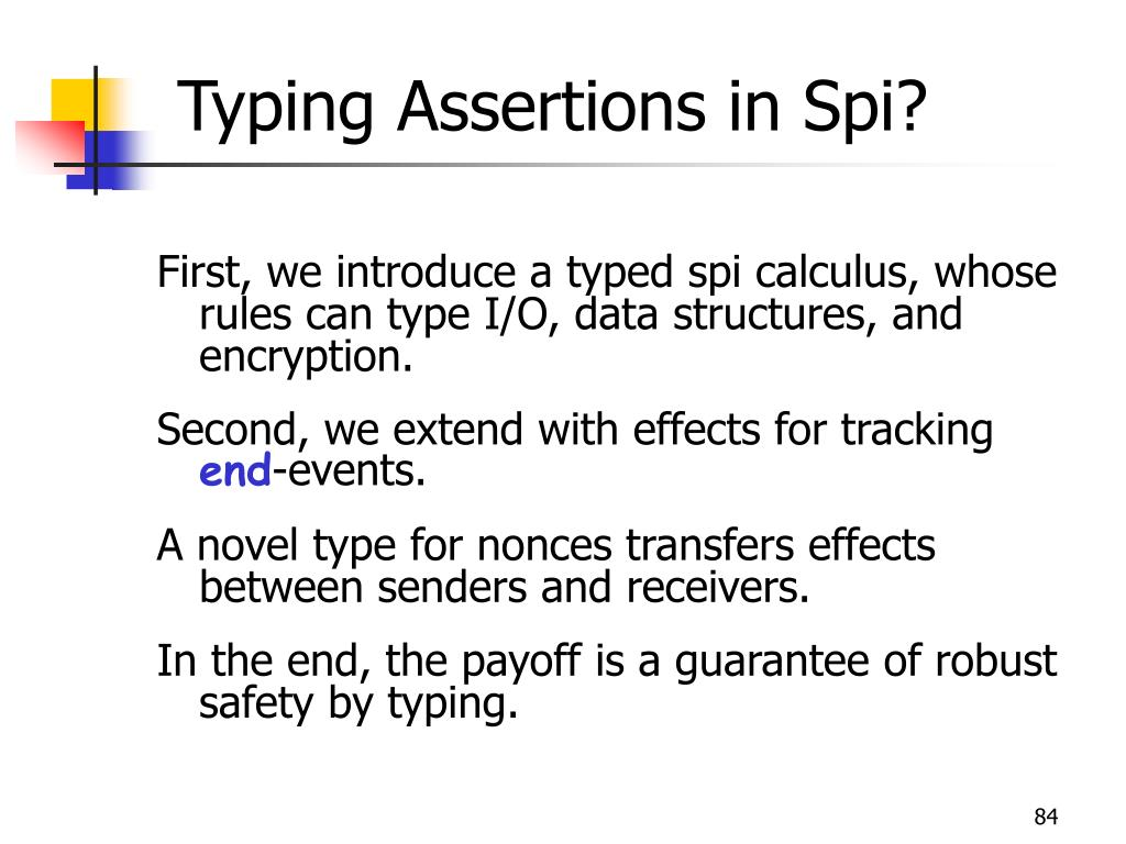 Typing Assertions in Spi?