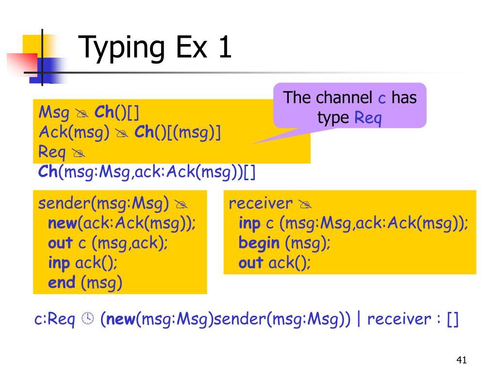 Typing Ex 1