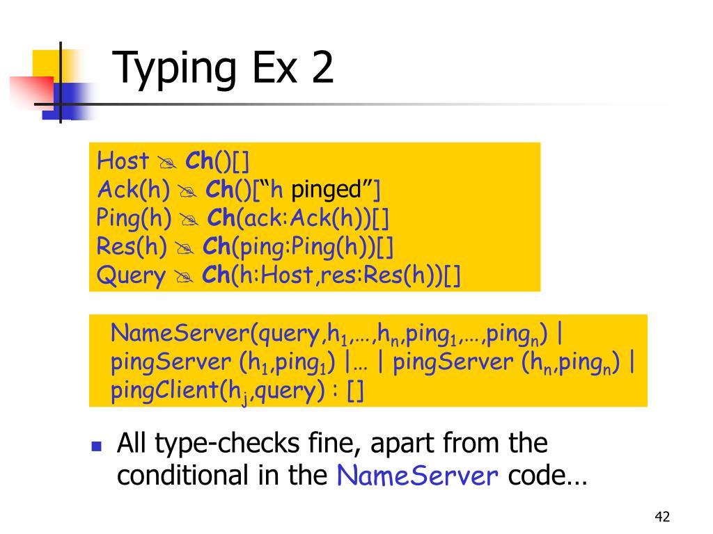 Typing Ex 2
