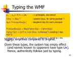typing the wmf