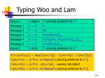 typing woo and lam