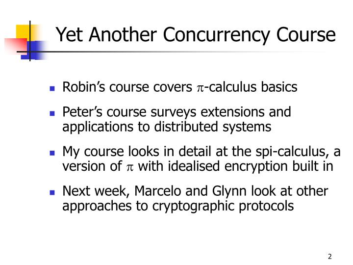 Yet another concurrency course