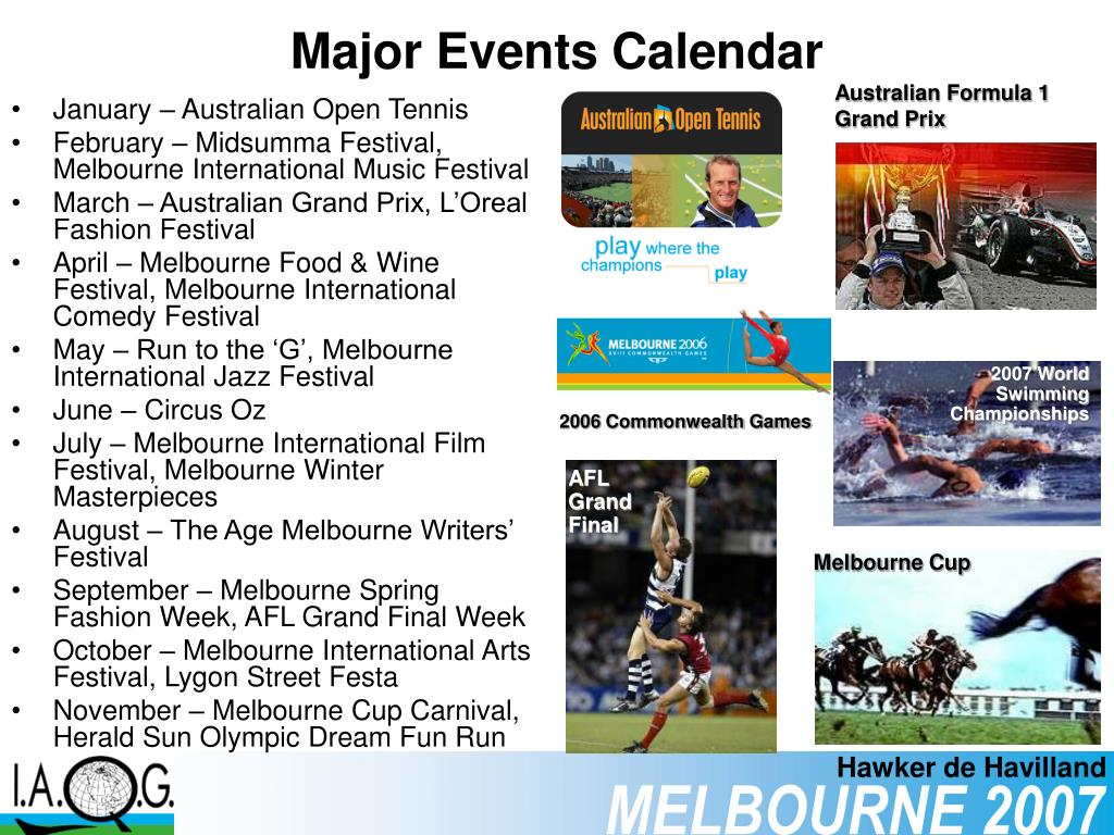 Major Events Calendar