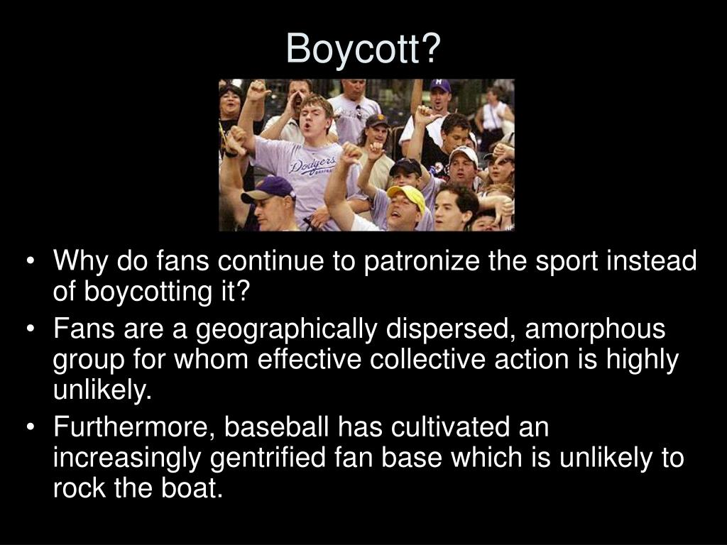 Boycott?