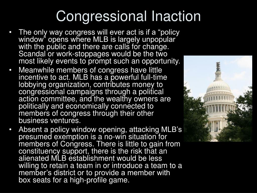 Congressional Inaction