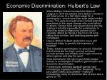 economic discrimination hulbert s law