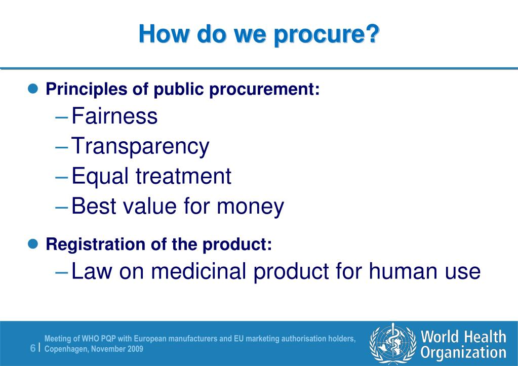 How do we procure?