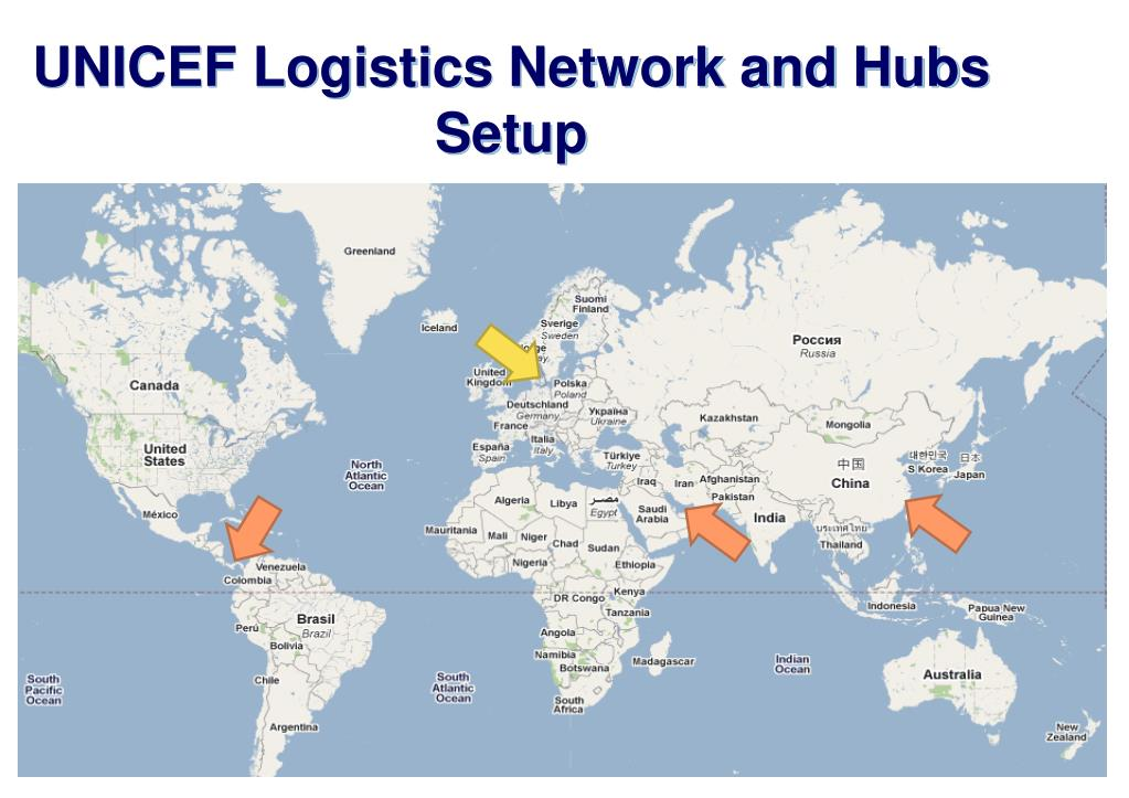 UNICEF Logistics Network and Hubs Setup