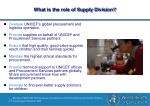 what is the role of supply division