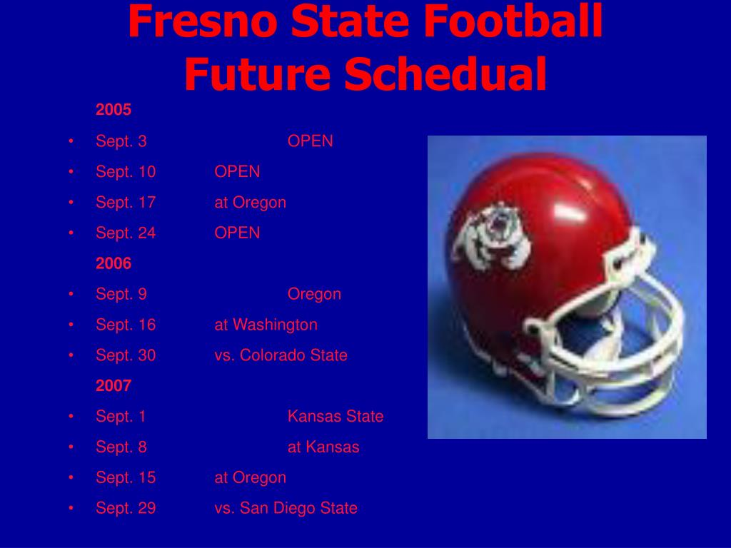 Fresno State Football Future Schedual