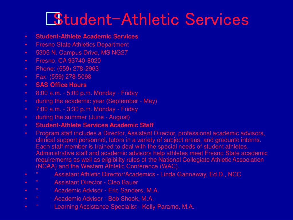 Student-Athletic Services