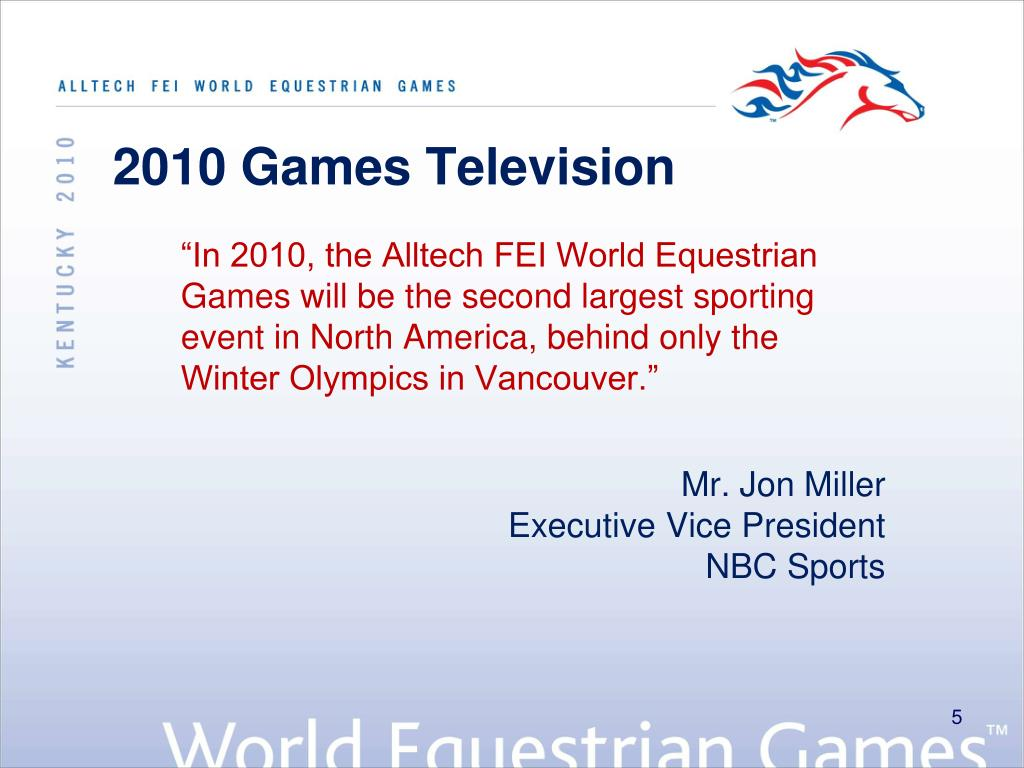 2010 Games Television