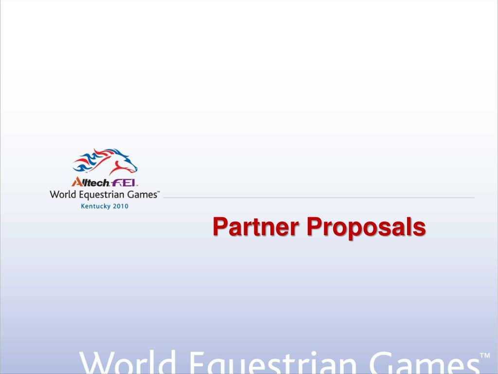 Partner Proposals