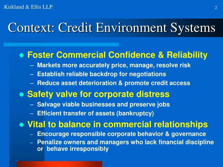 Context credit environment systems