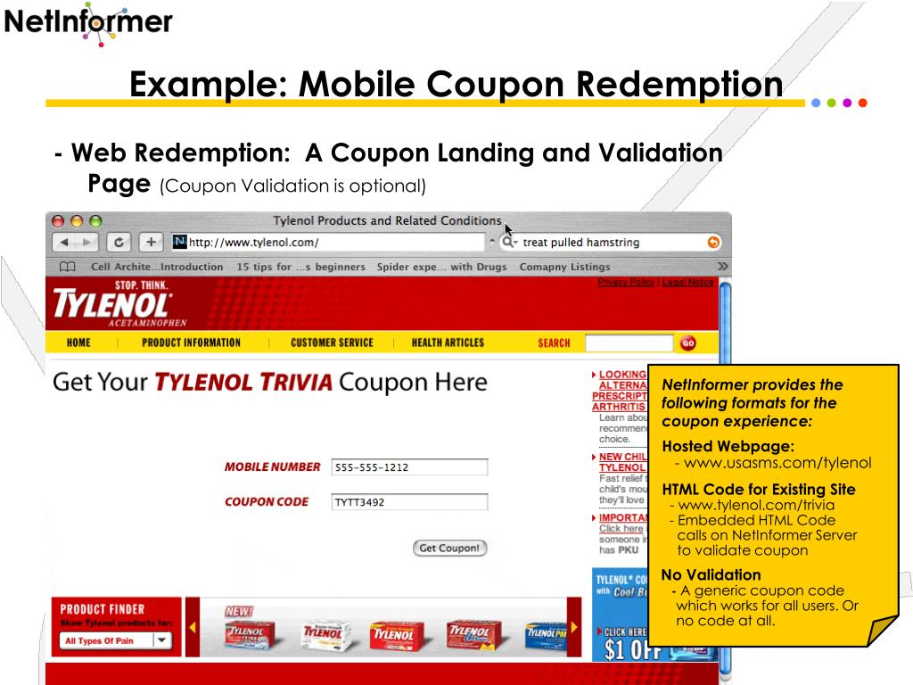 Example: Mobile Coupon Redemption